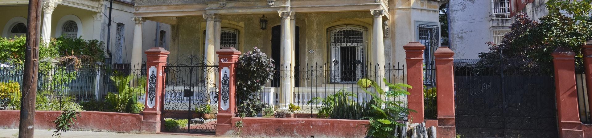 Quartier du Vedado à Cuba