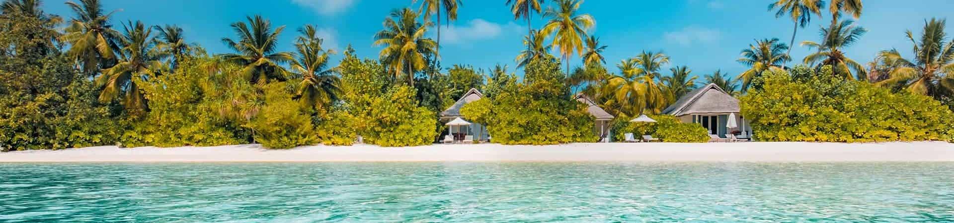 Vue sur une île des Bahamas
