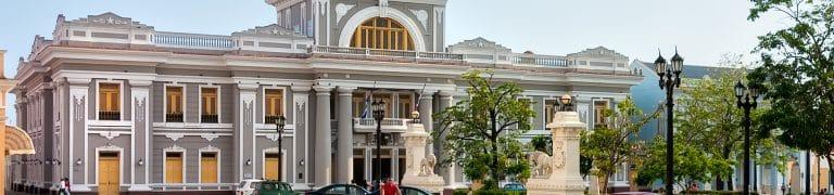 Vue de la ville de Cienfuegos à Cuba